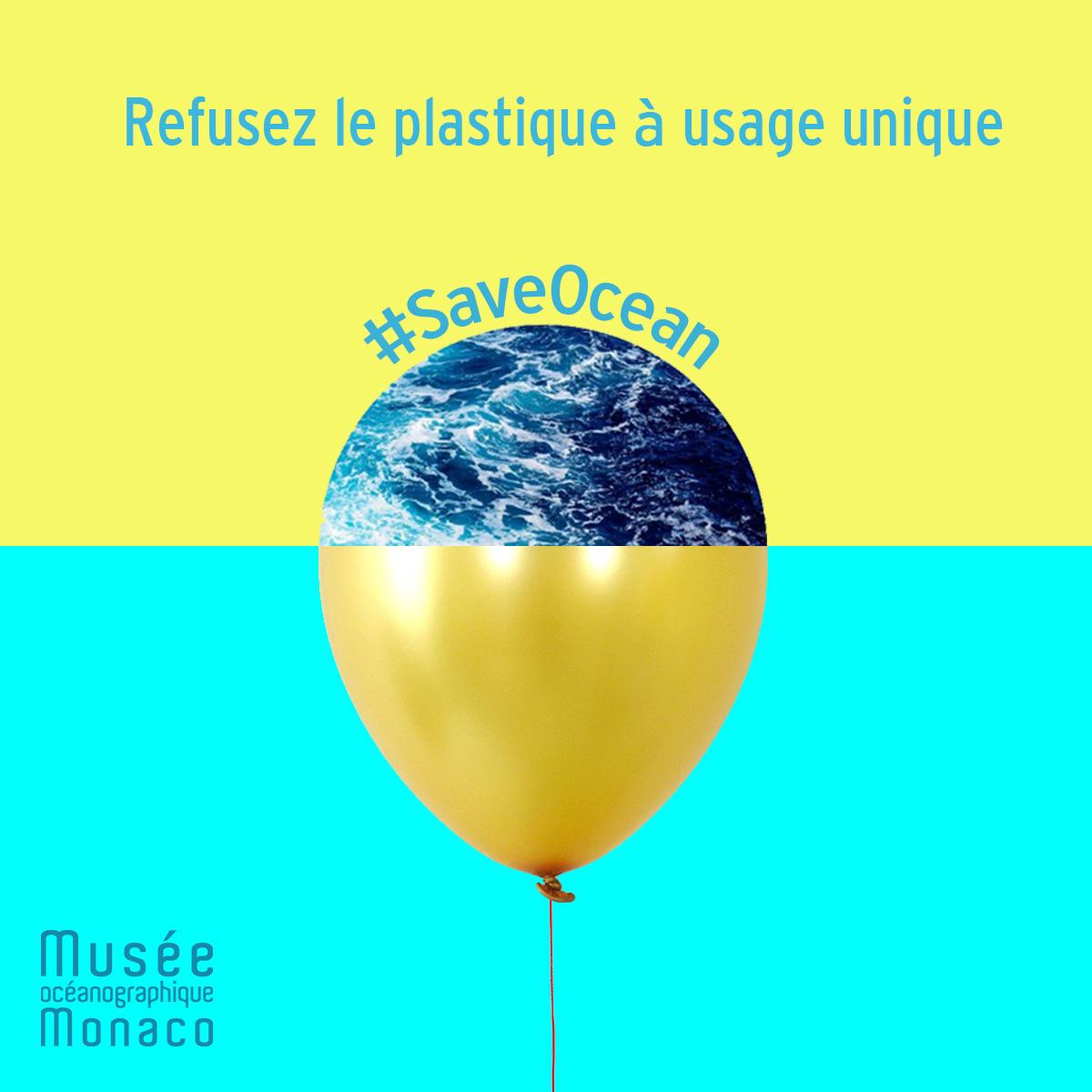 Ocean plastique Ballon