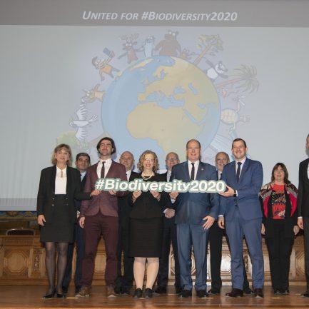 Photo de groupe - Lancement coalition mondiale pour la biodiversité - 3 mars 2020 © M. Dagnino - Institut océanographique de Mon