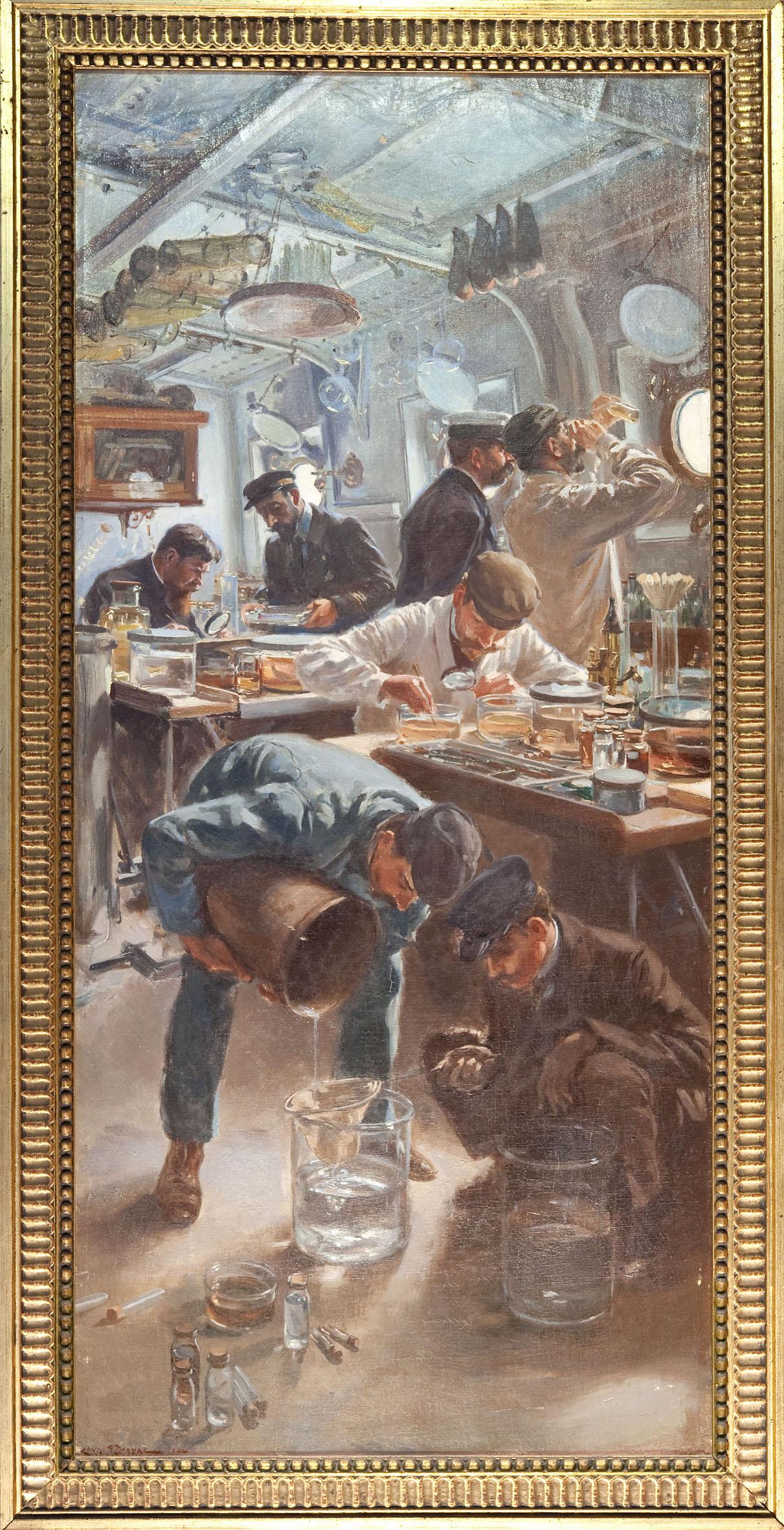 Tableau Le laboratoire Louis Tinayre 1908 © M.Dagnino
