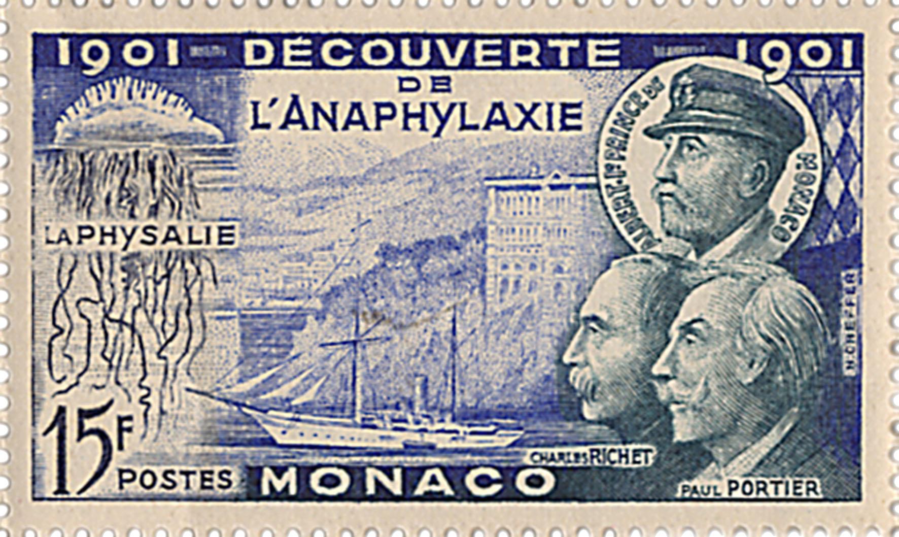 Timbre 1901 Decouverte de l'anaphylaxie
