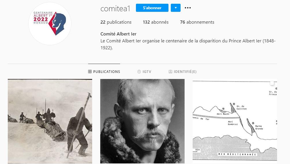 Instagram Comité Albert 1er