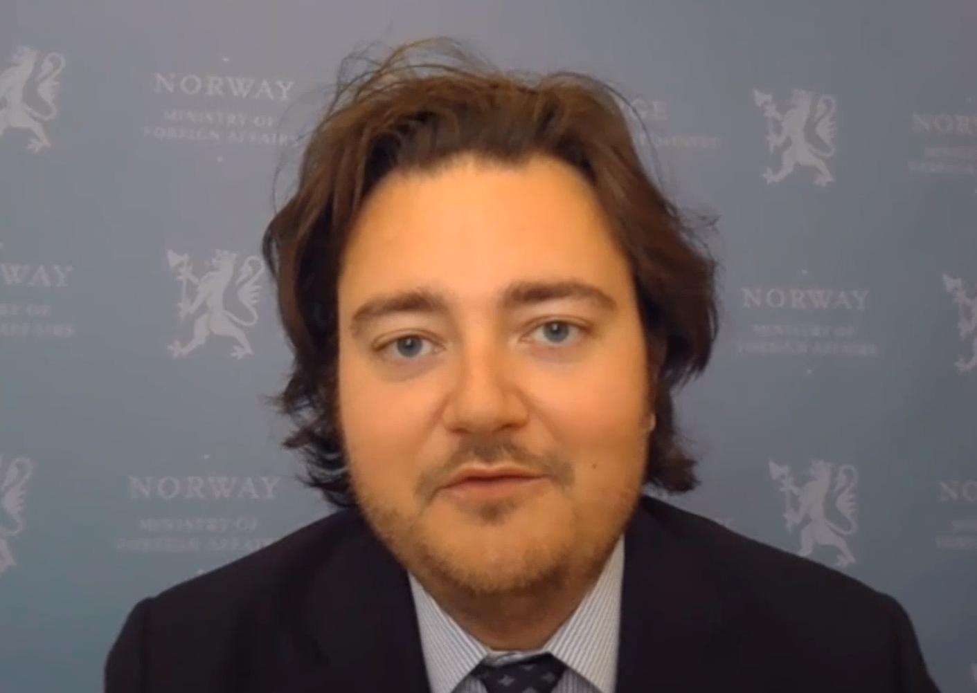M. Jens Frølich Holte, Secrétaire d'Etat au Ministère des Affaires Etrangères, Norvège