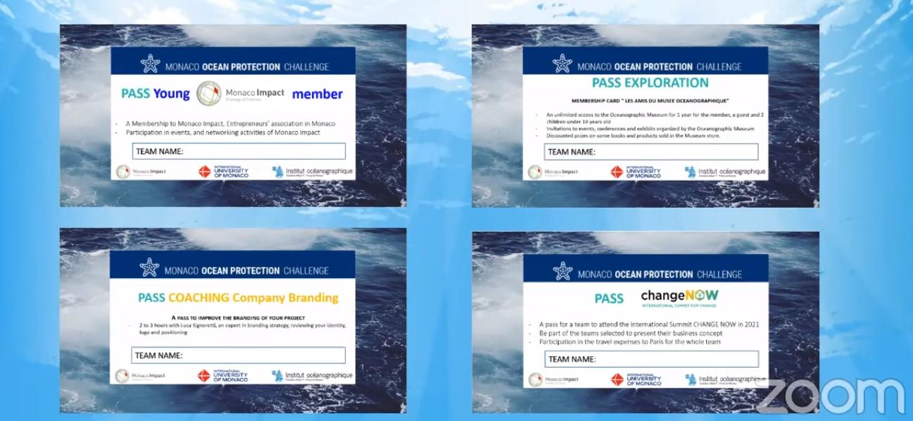 Les récompenses du Monaco Ocean Protection Challenge édition 2020